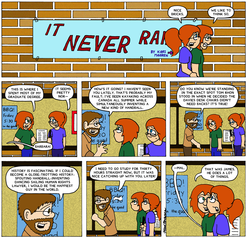 It Never Rains, James Rendell cameo